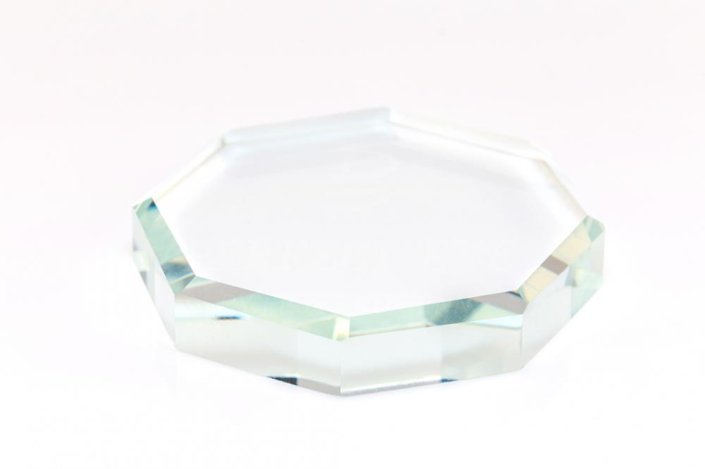 Ragasztótartó üveg kristály