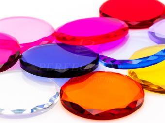Ragasztótartó üveg színes